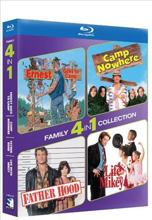 4-Pack Family: Ernest Goes to Camp / Camp Nowhere / Father Hood / Life With Mikey cover art
