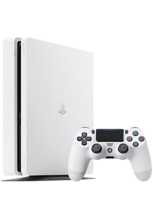 Glacier White PlayStation 4 Slim cover art