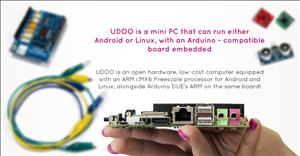 UDOO: Android Linux Arduino in a tiny single-board computer cover art