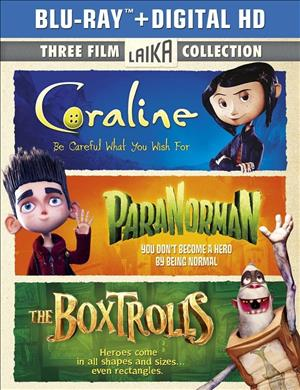 Coraline / ParaNorman / The Boxtrolls cover art