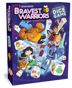 Bravest Warriors Co-operative Dice Game cover art