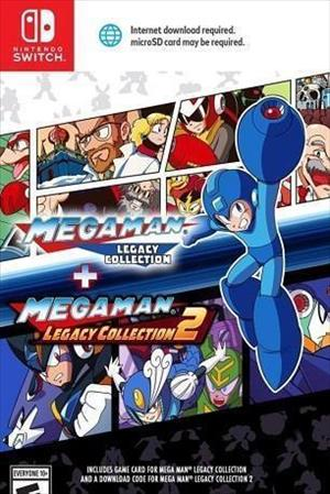 Mega Man Legacy Collection 1 + 2 cover art
