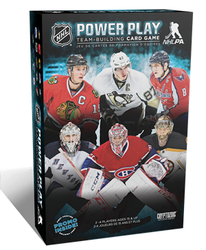 NHL Power Play Team-Building Card Game cover art